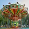 Attractive to kids hot sale play land swing flying chair for sale children amusement park equipment thrill swing carousel price