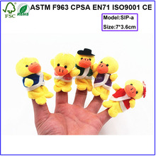 Cheap Price Custom Made Funny Plush Toy Animal Finger Puppets