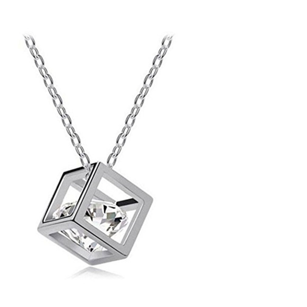 Waroomvan Toosvan Clearance Deals Women Chain Crystal Rhinestone Square Pendant Alloy Necklace Jewelry