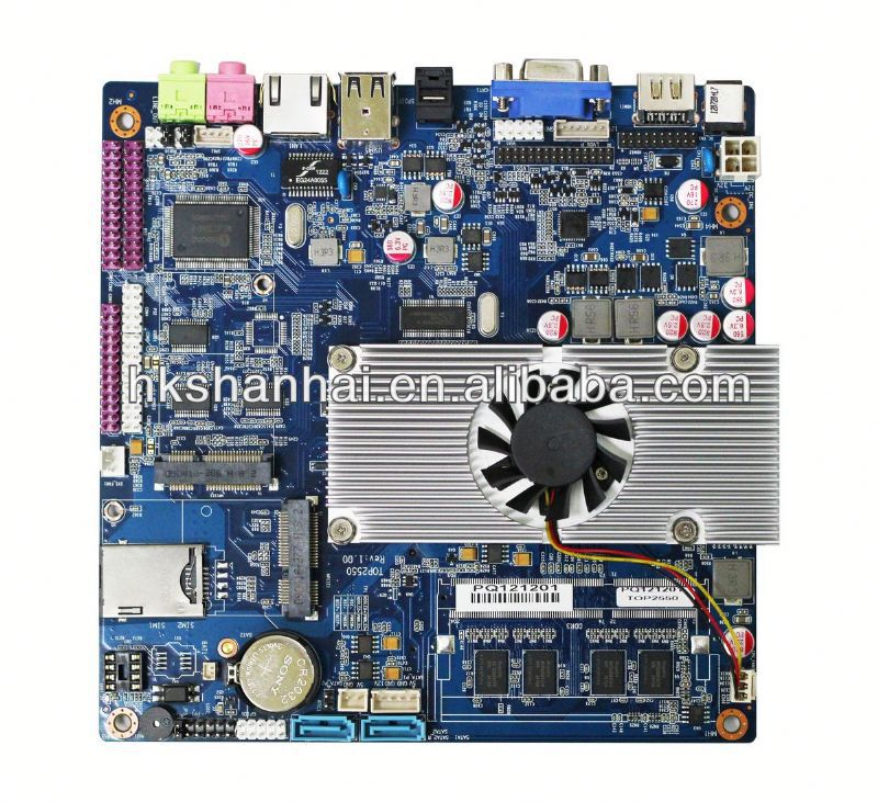 Industrial control embedded TOP2550 motherboard with wifi/3G 24bit LVDS for AD player