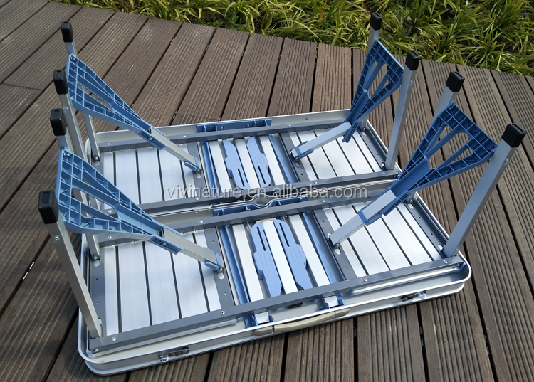 De plástico de jardín plegable mesa de picnic y silla portátil de