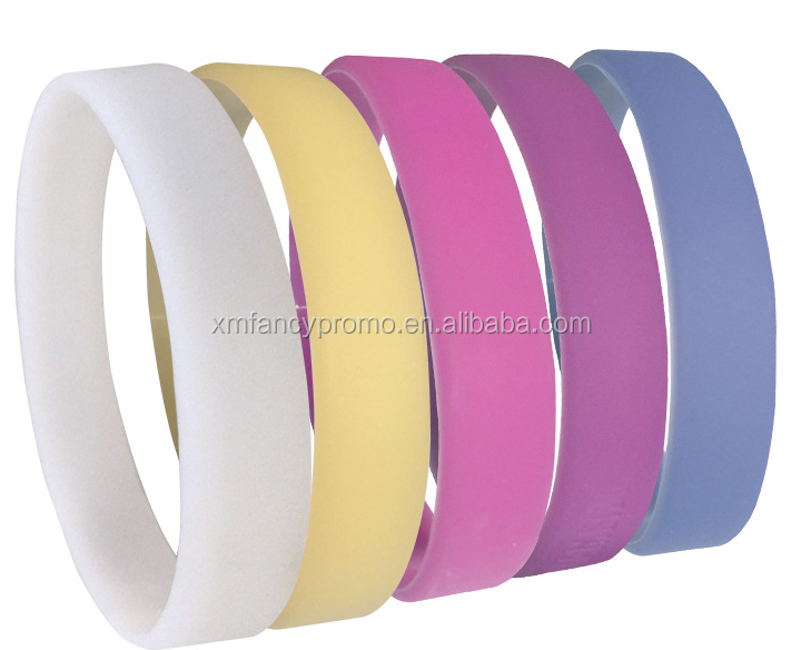 Color Change Sun Sensitive Promotional Item Silicone UV Tester Bracelets Wristband