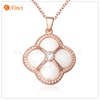 Charm Gold Plated necklace stainless steel ceramic pendant for women jewelry