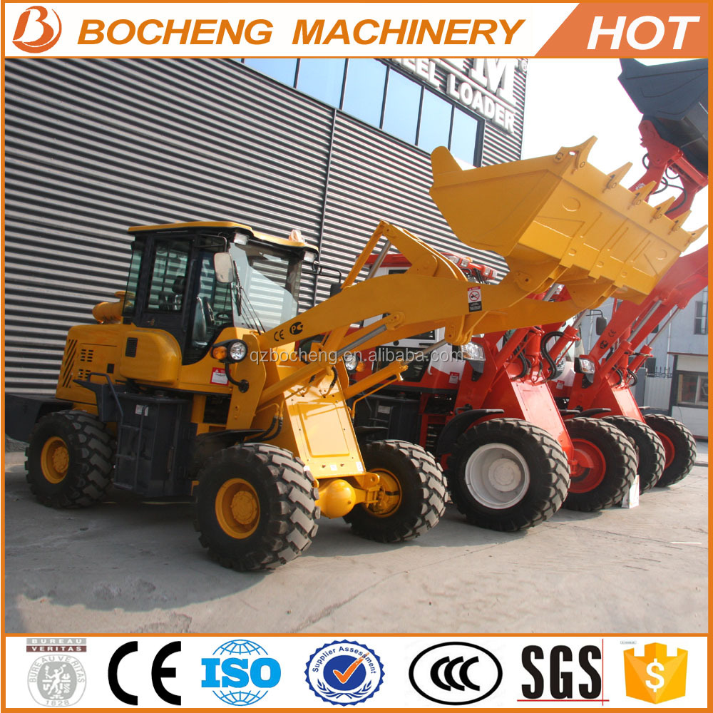 Hydraulic Quick Hitch articulated construction machine wheel loader 2tons for sale