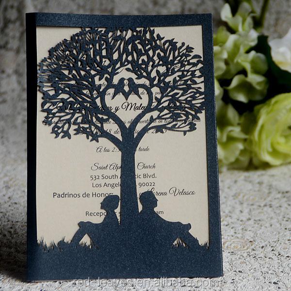 Red leaves company indian wedding invitations handmade paper wedding ic1503 14 b stopboris Choice Image