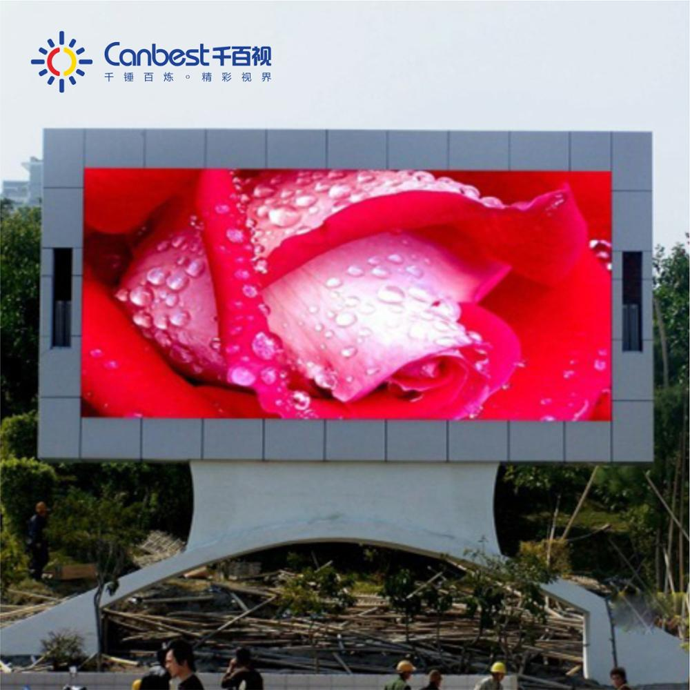 New HD P10 full color outdoor advertising clear led video display screen