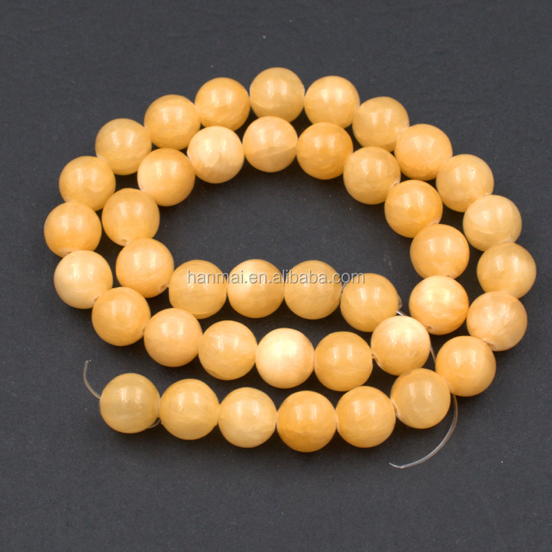 natural gemstone beads 6mm 8mm 10mm yellow topaz gemstone price