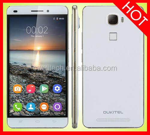 OUKITEL U8 4G LTE Smartphone with Fingerprint 5.5 Inch 2.5D HD Touch Screen 2GB RAM/16GB ROM MTK6735M Quad Core Android 5.1 Loll