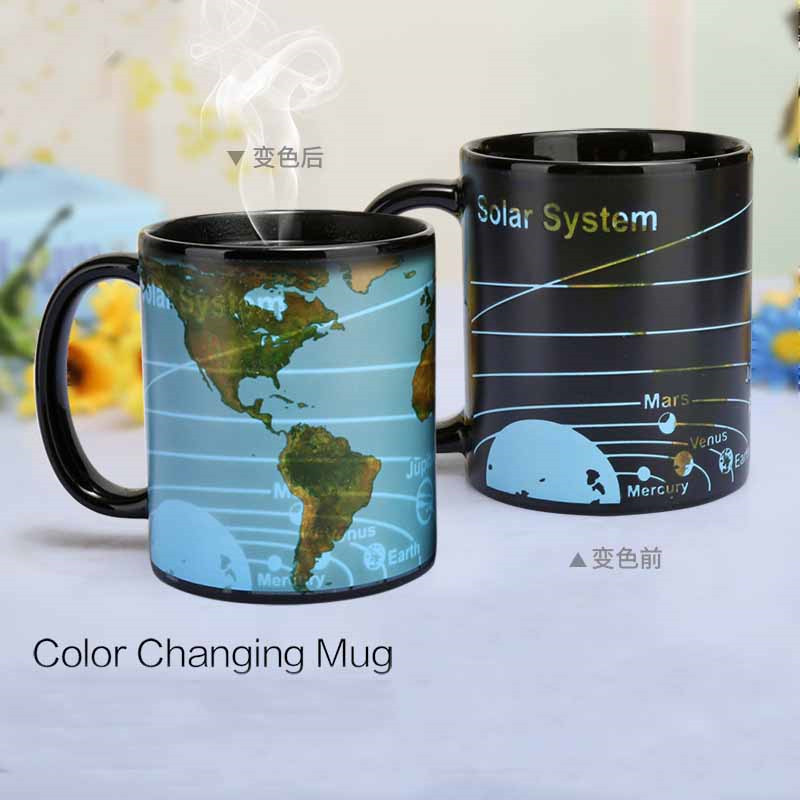 P178 custom ceramic magic hot water heat sensitive color changing mug