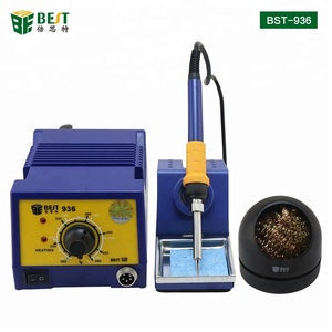 BEST Factory Temperature Adjustable Lead-free Automatic BGA SMD Soldering Station Rework Station With Soldering Iron Cleaner