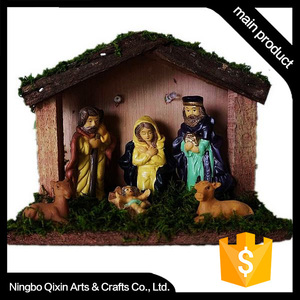 Nativity Set, Resin Nativity Set, Antique Nativity Set