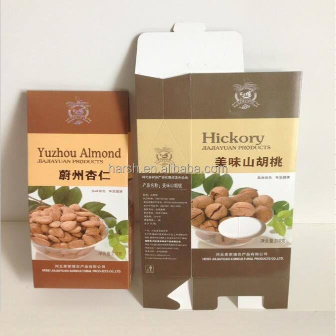 rice packaging paper packaging box for nuts dry food packaging box