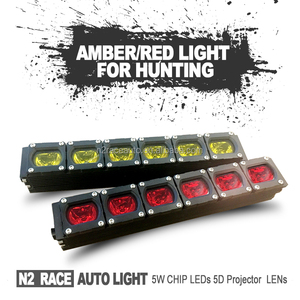 30w LED Work Square Light Bar Amber/Red Color Lighting For Camping Offroad Truck 4x4 Boat