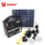 Rechargeable 12v Battery High-power 10W Portable Solar Home Lighting System With 4pcs Bright Led Bulb
