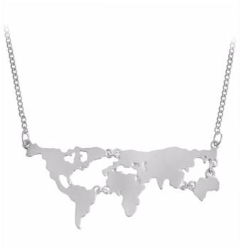2018 factory fashion plain glob world map charm pendant necklace 2018 factory fashion plain glob world map charm pendant necklace publicscrutiny Images