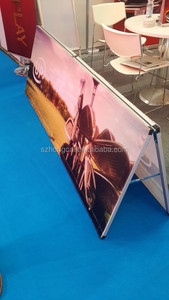 Advertising Poster Stand Aluminium Sign Board 3D Design