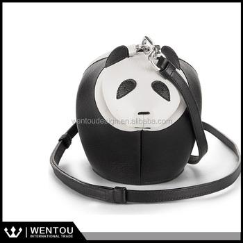 0cf67dd371 Cartoon 3D Lifelike Animal Face Pattern Zipper Wallet Bag Panda Shoulder Bag