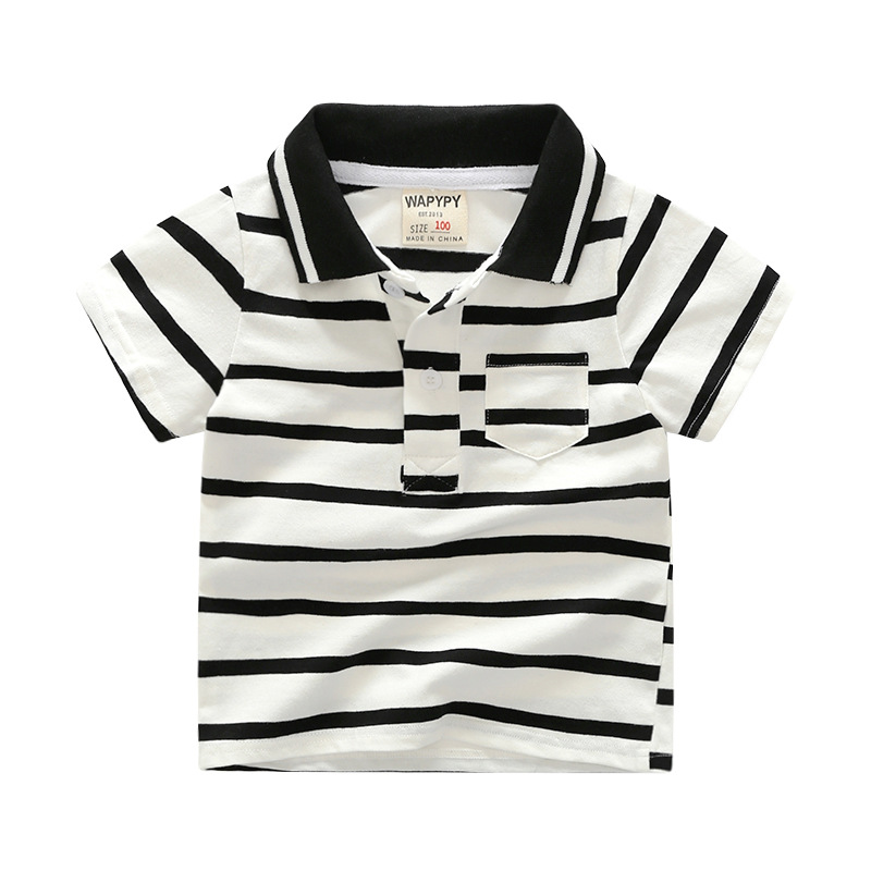 Baby fashion Polo T shirt kinderen tops kind dragen make up groothandel kleding jongens polo shirts