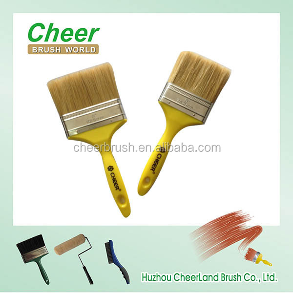 plastic handle paint brush with tin ferrule