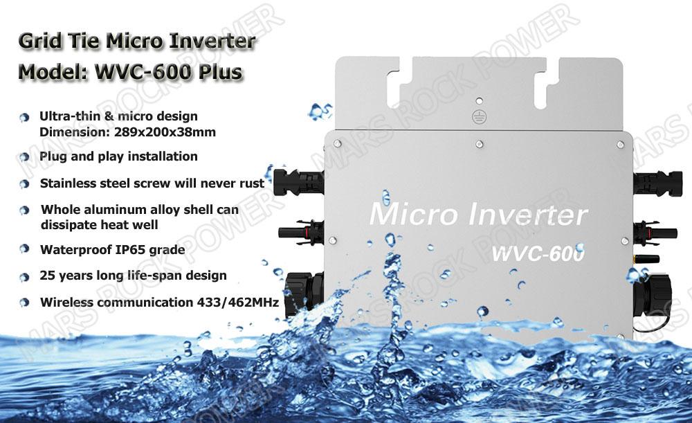 600w Waterproof Grid Tie Micro Inverter With Wireless