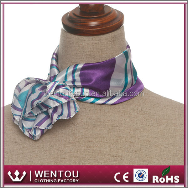 Ladies' square cheap price polyster satin squre fashionable scarf wholesale