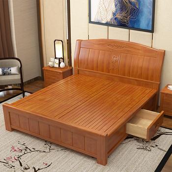 Modern Solid Wood Frame Wedding Bed Buy Solid Wood Bed