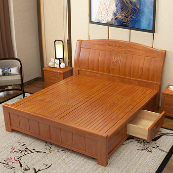 Exceptionnel Modern Solid Wood Frame Wedding Bed   Buy Solid Wood Bed With Box,Solid  Wood Storage Bed,Solid Wood Plank Bed Product On Alibaba.com