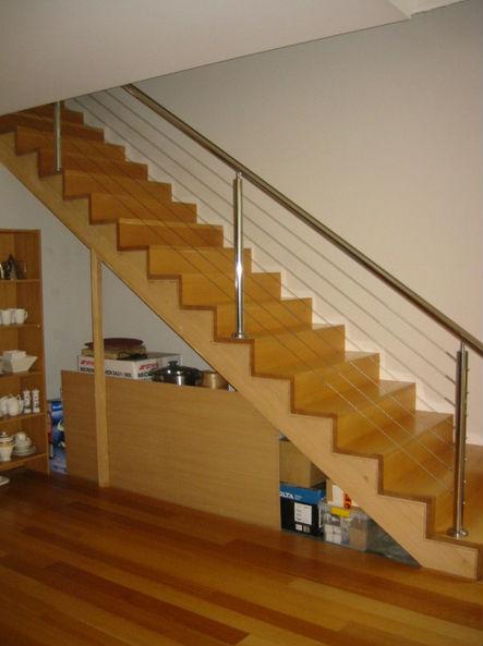 Pasamanos con cable de 8mm acero inoxidable escalera for Fabrica escaleras aluminio