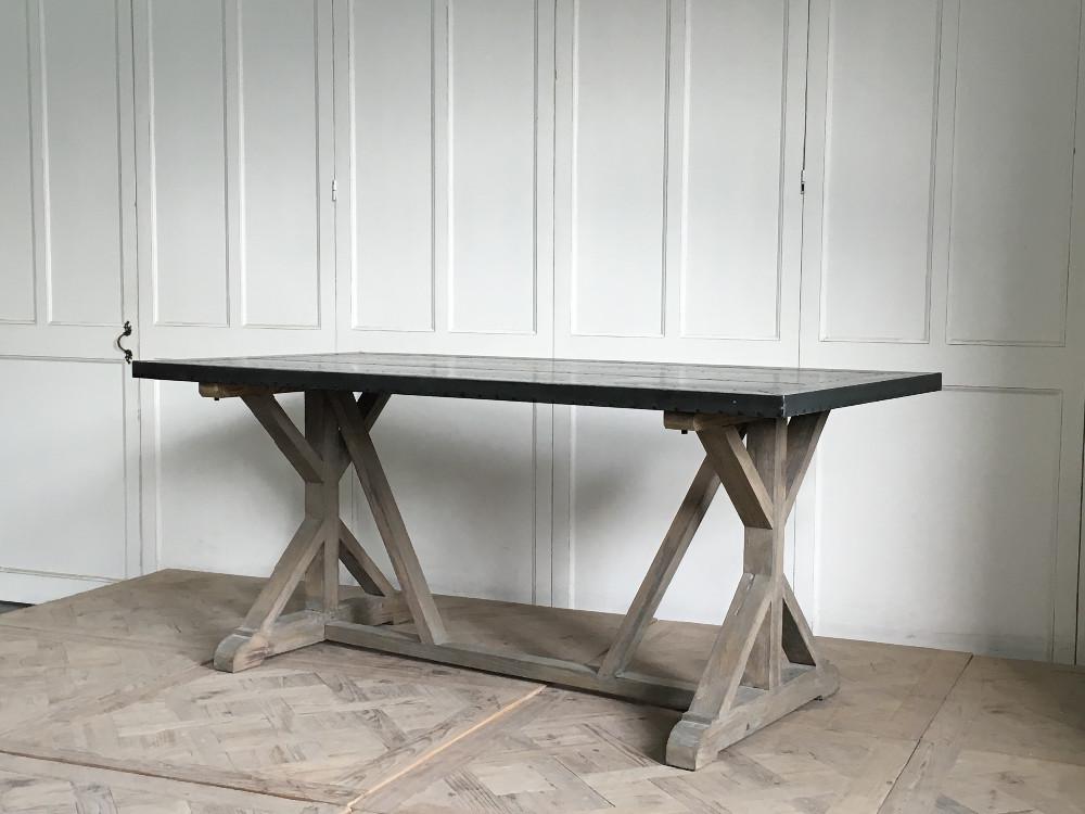 Industriales antiguos muebles de metal mesa de comedor de diseño con ...