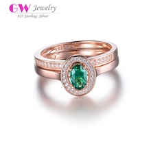 2017 Globalwin fashion jewelry rose gold plated rings designs for ladies with one big stone