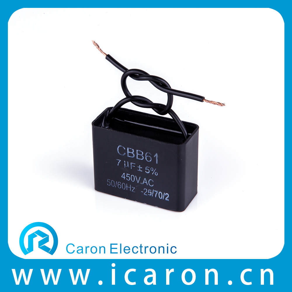 CE approved cbb61 12uf 450vac ac motor run capacitor for generator