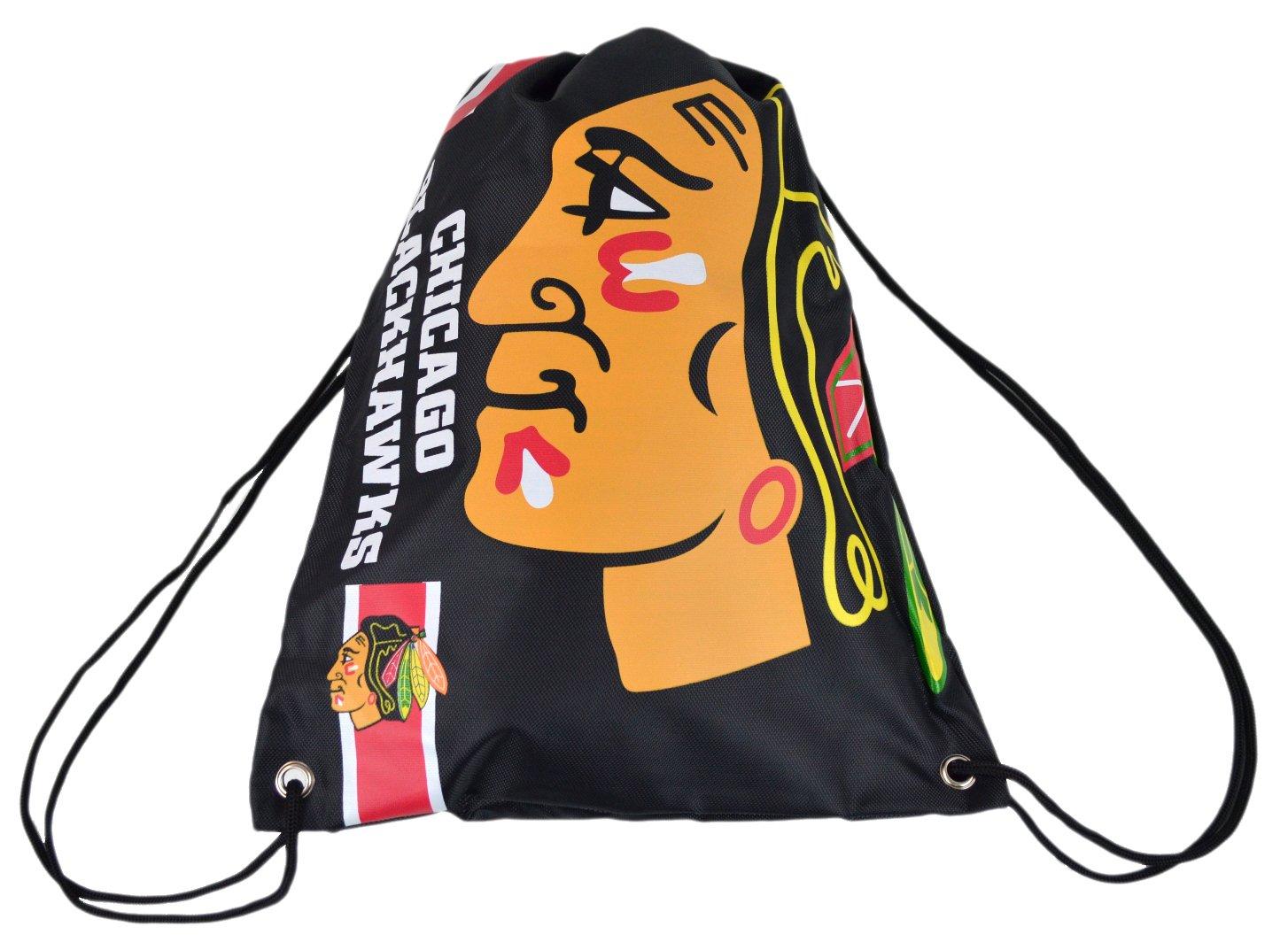 Official National Hockey League Fan Shop Authentic Drawstring NHL Back Sack (Chicago Blackhawks)