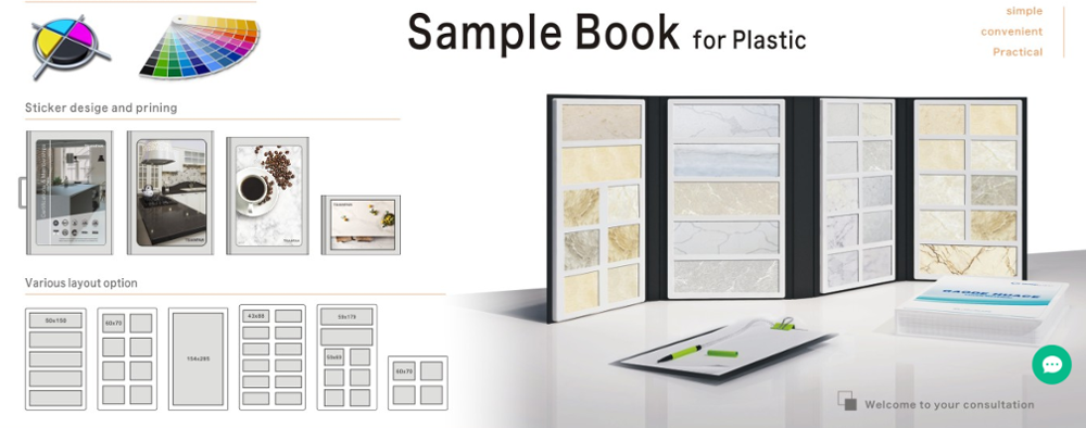 Custom Waterproof Plastic Granite and Quartz Stone Flooring Tile Swatches Sample Book Making