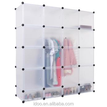 assemble plastic portable wardrobe closet folding wardrobe plastic pvc white plastic wardrobe fh