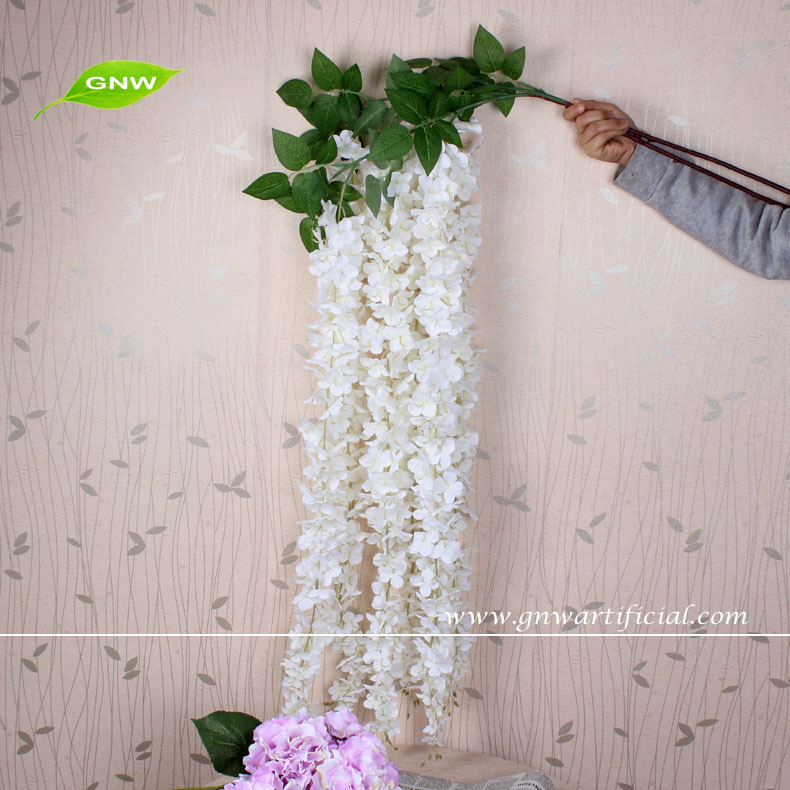 Gnw Hanging Decorative Artificial Flowers Wedding Wisteria Flower For Decoration