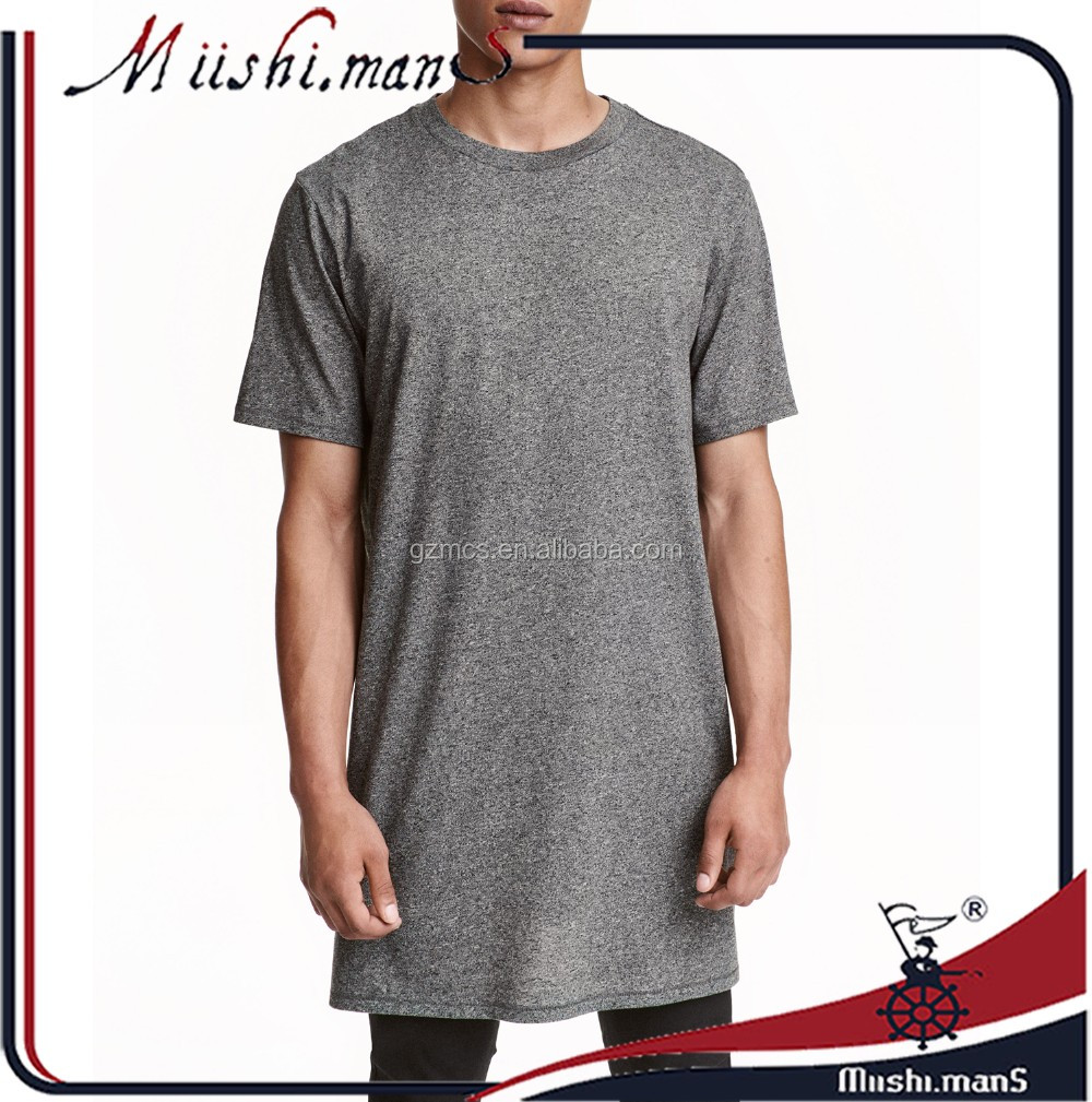 2017 Hip Hop Longline T Shirts Oversized Tee Longline T-Shirts for Men