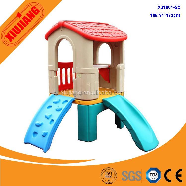 jardn de plstico casa de juegos con tobogn para los nios de la aptitud