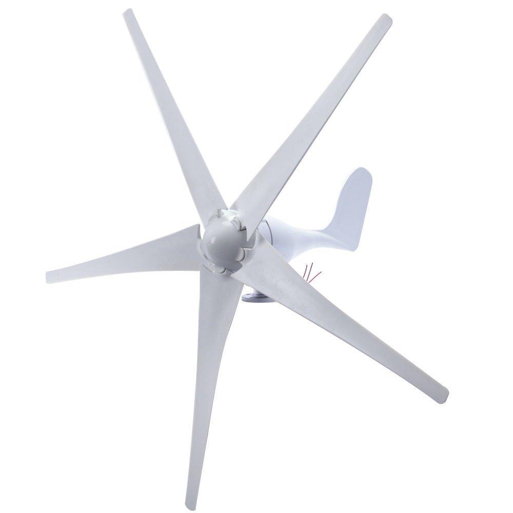 7thLake Wind Turbine Generator 5 Blade 500W DC 12V Wind Driven Generator With Waterproof Charge Controller