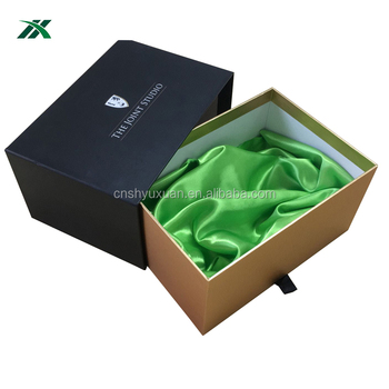 custom fancy drawer garment box with logo design