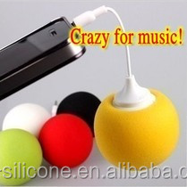 3.5mm Plug Mini Portable Spherical Stereo 2013 new egg shape silicone music speaker for ph