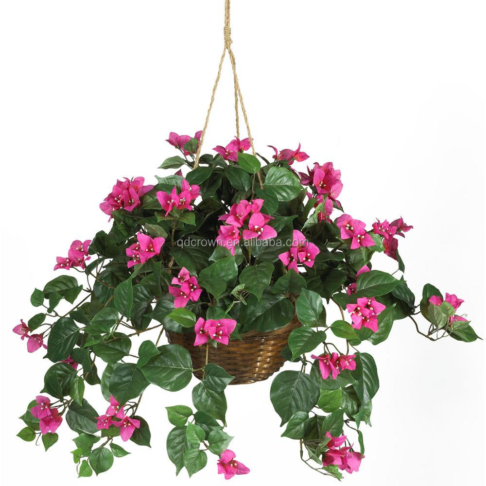 Outdoor uv resistant with lights flowers artificial bush,Outside Garden Flower Hanging Artificial ivy Bush