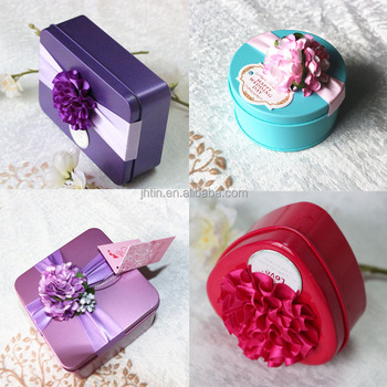 Alibaba China Wholesale Wedding Gift Metal Tin Container For Wedding