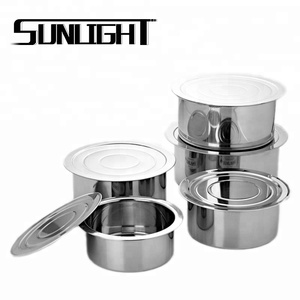 410 stainless steel cookware set indian cooking pots for sale