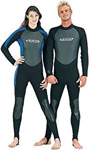 3/2mm Tilos Titanium Skin Chest Full Suit Jumpsuit Wetsuit Mens XL Black Scuba Dive Diving Surf Surfing Wet Suit