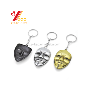 V for Vendetta Keychain 3 colors Mask Key Chain Hot movie Key Ring Holder Pendant Chaveiro Jewelry Souvenir