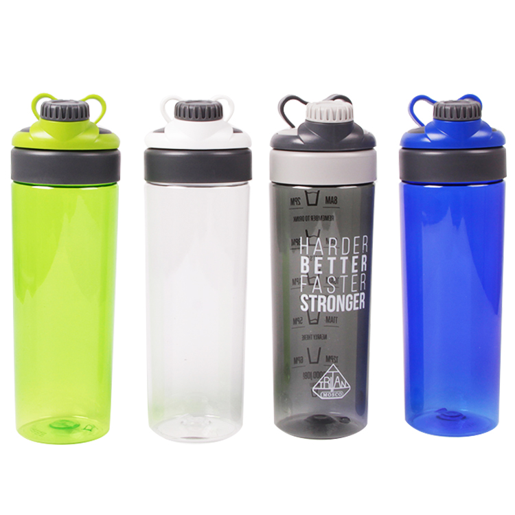 550MLBPA free tritan Promotional Outdoor plastic sports bottle with straw