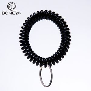 promotional spiral plastic key ring key holder