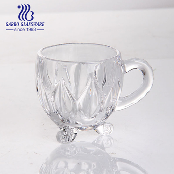 1e3f3cf12a0 Three Footed Glass Coffee Cup With Handle/ Beautiful Glass Coffee Mug - Buy  Glass Coffee Cup,Beautiful Coffee Cups,Glass Tea Cups With Handle Product  ...