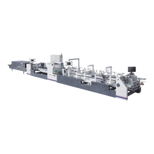 Cake pizza box bottom lock high efficiency folding gluing machine price