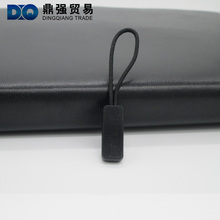 Simple design soft rubber Zipper puller with logo Zipper slide zipper pull